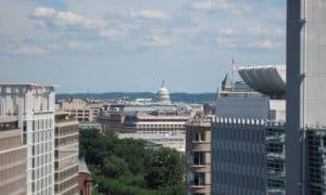 国際通貨基金本部第2ビルからの眺め